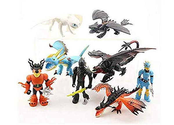 8 estilos Cómo entrenar a tu dragón Figuras de acción Juguetes para niños Regalo Accesorios para automóviles Modelo Muñeca Adornos Envío gratis L098