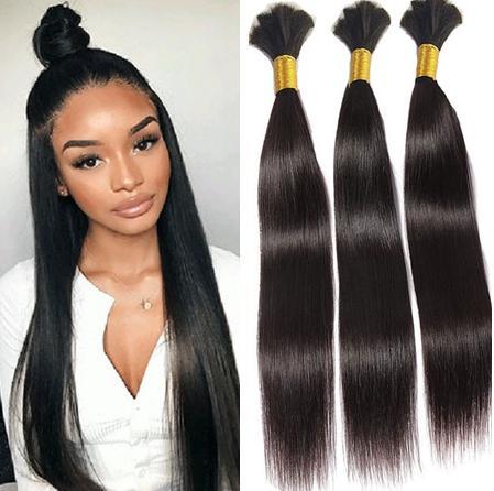 Mongol Hetero Bulk cabelo 300g 9A cabelo para trança Não Acessórios reta de seda volume do cabelo