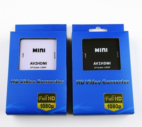 Special Offer Mini Composite AV RCA to HDMI Video Converter Adapter Full HD 720-1080p UP Scaler AV2HDMI for HDTV Standard TV