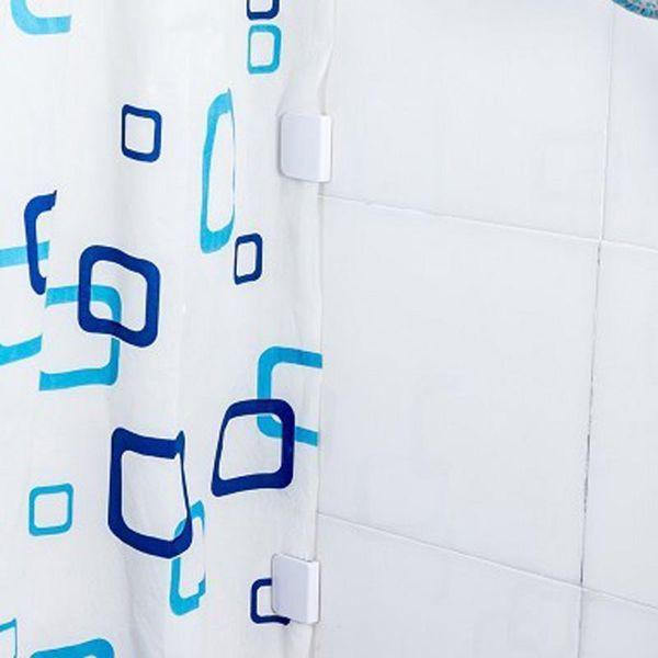 FHEAL Shower Curtain Clip Bathroom Curtain Buckle Viscose Fixed Hook Seamless Sticky Hooks Prevent Moving Bathroom Tool