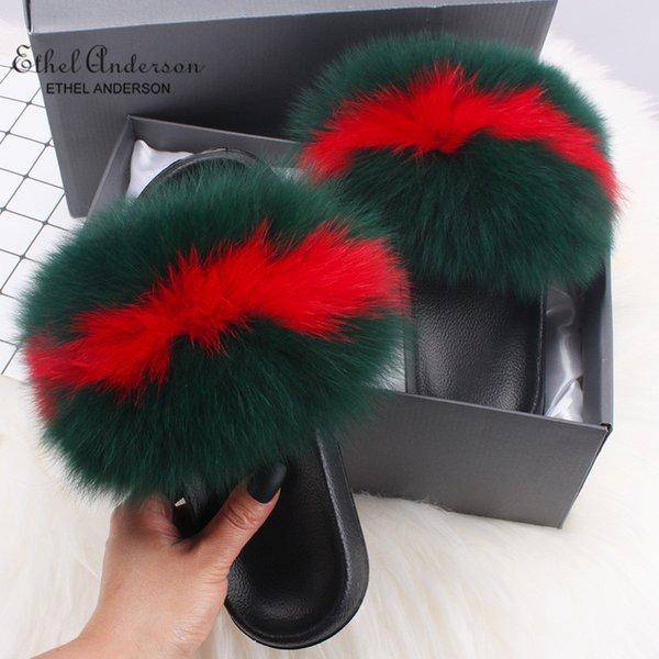 Roter grüner Fuchspelz