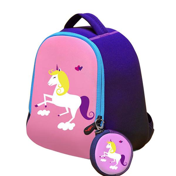 Einhorn Druck Kinder Rucksack Mädchen Und Jungen Rucksack Kinder Tasche Tier Schultaschen Vorschulrucksack Kinder Mochila A2277