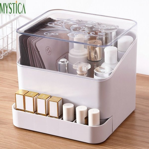 European Makeup Storage Box Lipstick Brush Holder Home Cosmetic Jewelry Organizer Box Desktop Drawer Ring Earring Necklace Rack