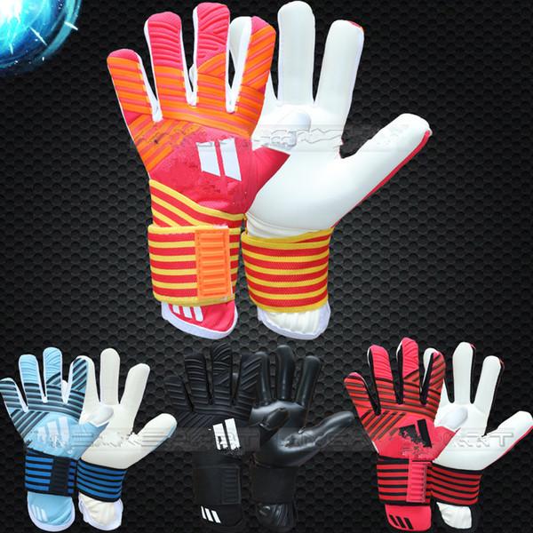 top popular Wholesale supplier ACE Goalkeeper Gloves Latex Soccer Goalie Luvas Guantes professional 2021