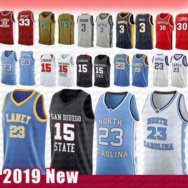 top popular men's 15 Kawhi 23 Michael JD Leonard NCAA North Carolina State University College Basketball Jersey Laney High School San Diego State Aztecs 2020