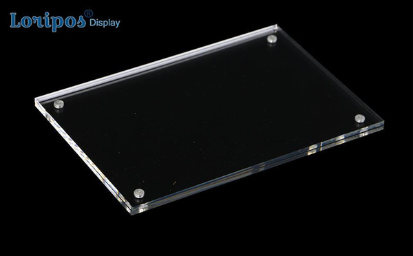 Transparenter Magnet Plexiglasrahmen Film Acryl Kühlschrankmagnet Bilderrahmen Fotokartenhalter Kühlschrank Fotorahmen