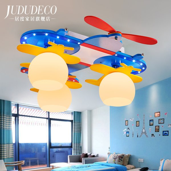 Light Aircraft Children Cartoon Pendant Light Kids Bedroom Lamp Child Cartoon Drop Light Home Decoration Lighting