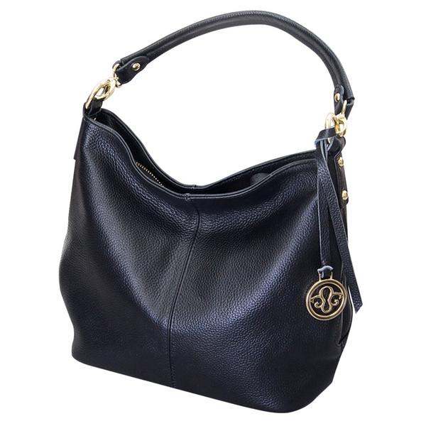 Ocio de todo el fósforo de las mujeres bolso de cuero genuino estilo de moda coreana bolsa de hombro de las señoras bolsa de mensajero Hobo # 112905