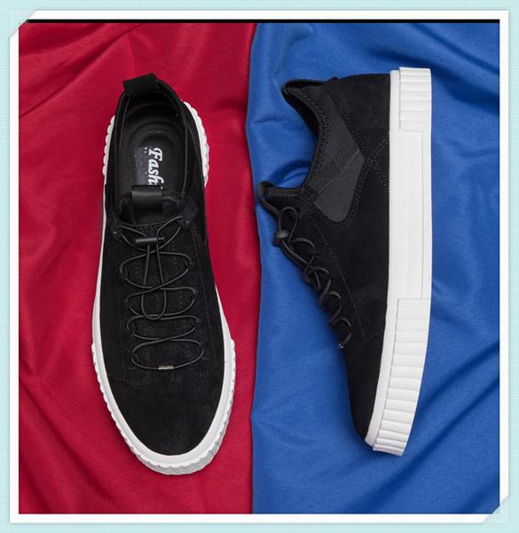 size1241 2019 New Arrivals Moda para hombre Zapatos de plataforma Flat Casual Lady Walking Casual Shoes Luminous Fluorescent White Shoes Leather Oferta