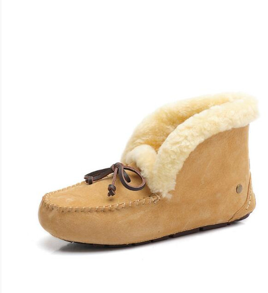 2019 Fox fur Snow Boots for women Driving Loafers Boats Winter Warm Booties