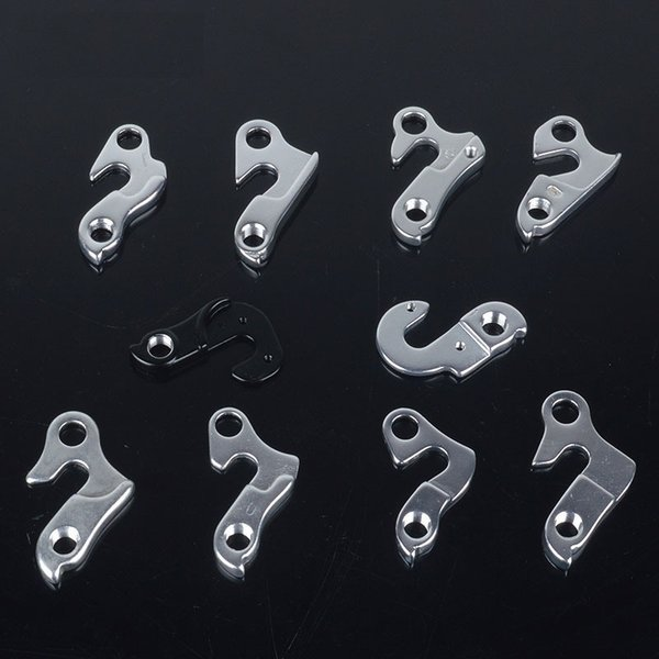2Pcs Aluminum Alloy Bicycle Hanger Hooks MTB Mountain Bike Frame Rear Derailleur Rack Cycling Bicycle Tail Hook with Free Screws #25318
