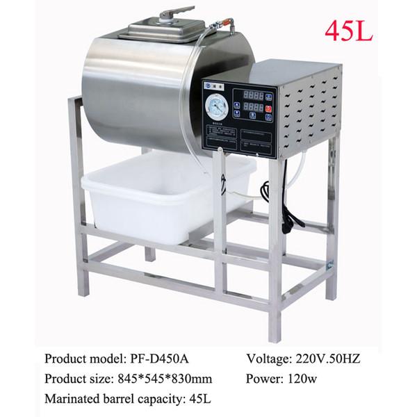 Máquina marinada de salazón de carne de acero inoxidable 45L máquina de salazón china hamburguesería máquina de decapado RÁPIDO con temporizador 220v