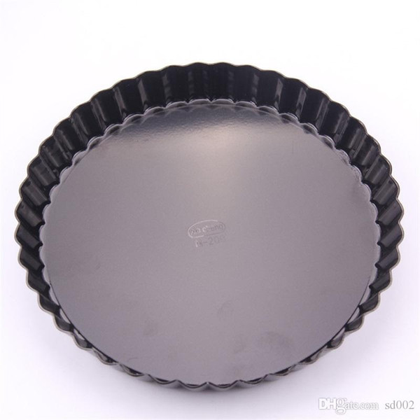 Black Cake Baking Pans Non Stick Round Pie Tray Chrysanthemum Shape Plate Movable Chassis Aluminium Alloy Hot Sale 18 5am4b1