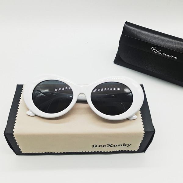 Clout Brille Kurt Cobain Brille für Männer Curt Cobain Sonnenbrille Frauen Retro Runde Brillen Trend Outdoor Persönlichkeit Sonnenbrille