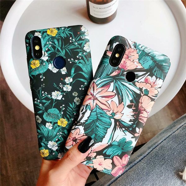 Glow in Dark Flowers Case For Xiaomi Redmi Note 5 6 7 Pro Cover Floral Hard Matte Finished Slim