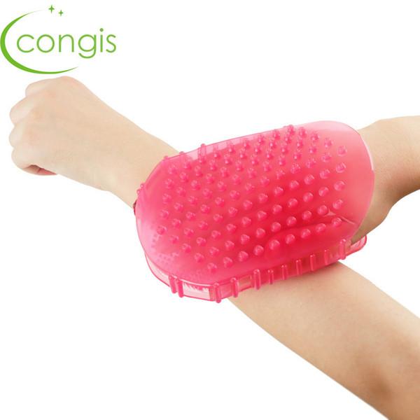 Congis Double-sided Silicone Body Brush For Cellulite Soft Brushes Bath Massage Scrub Gloves Multifunction Bathing Tool SH190729
