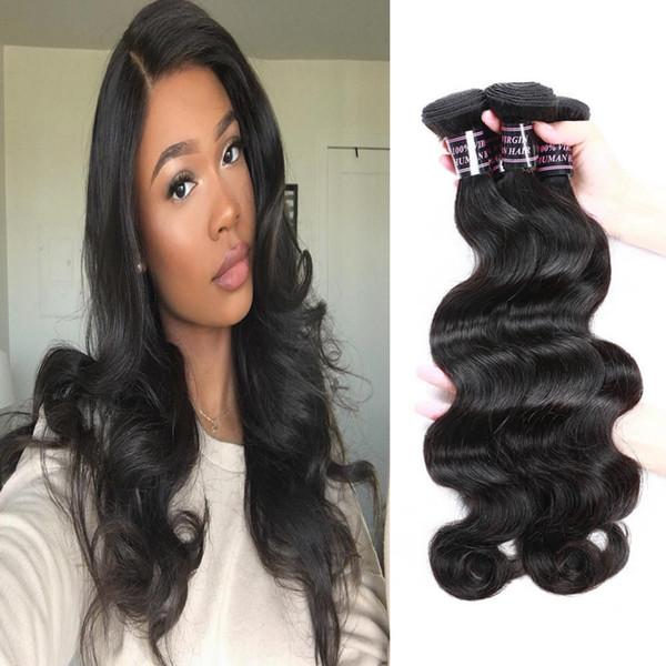 3Bundles 8-28inch Deep Wave Brazilian Human Hair Bundles Loose Wave Yaki Straight Deep Curly Body Water Wave Color 1B Black