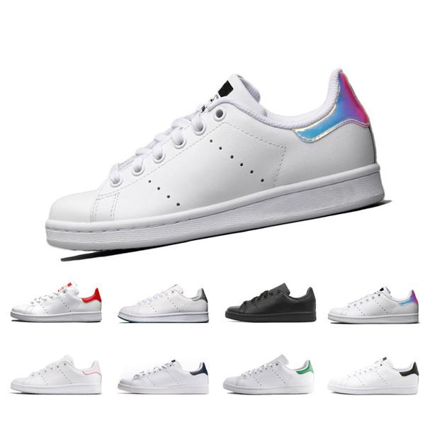 baratos venda stan homens mulheres Skateboarding sapatos smith Casual preto branco da sapatilha verde ao ar livre calçado desportivo treinador sapatos respirável 11