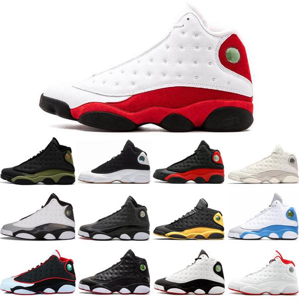 Nike Air Jordan 13 NOUVEAU 2019 13 s Classic 13 chaussures de basketball de race olive HOF DMP chat noir il a obtenu le jeu hyper royal barons hommes femmes Michael Sports