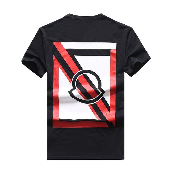 2019 Summer M Brand Short Sleeve Men's T-Shirts 1008 O-neck Fashion design casual France style cotton Man Clothing tshirt Round collar tees