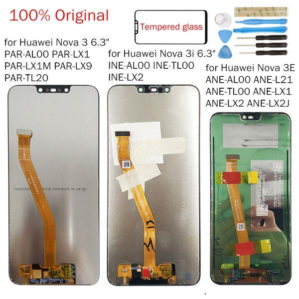 Orijinal Huawei Nova 3i LCD Ekran Dokunmatik Digitizer Meclisi LCD Ekran Nova 3/3E 10 Dokunmatik Onarım Parçaları