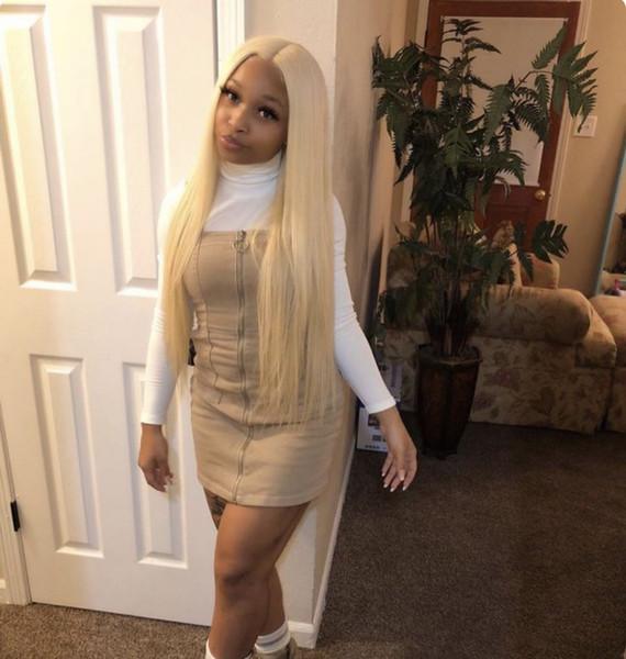 Pleine dentelle perruque 9A 613 # Blonde Lace Frontal perruques avec bébé cheveux Glueless Vierge brésilienne perruques de cheveux humains