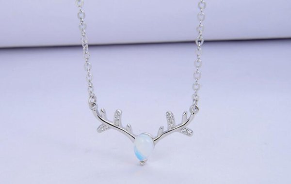 Hot style accessories s925 sterling silver deer with your necklace ladies collarbone chain fashion pendant headpiece accessories