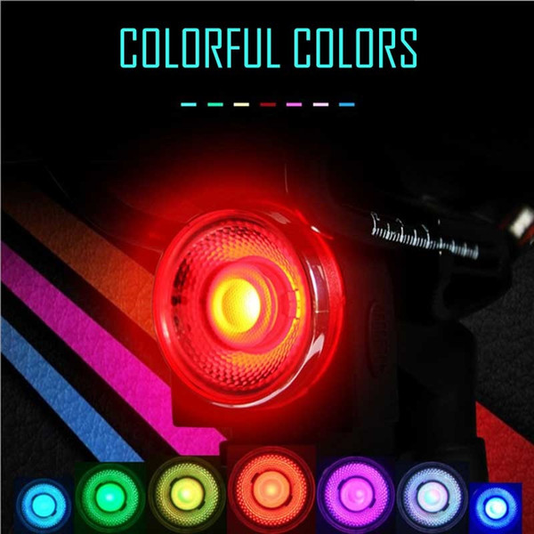 Antusi Time-limited Ao Usb Bicycle Light Mtb Rechargeable Bike Led Seat Night Running Seven Colors Colorful Round 2018 New #121907