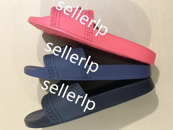 (v e r s a e) yeni avrupa moda terlik erkek rahat plaj ayakkabı kapalı kadın sandalet kaliteli ayakkabı palazzo medusa boyutu 39-46