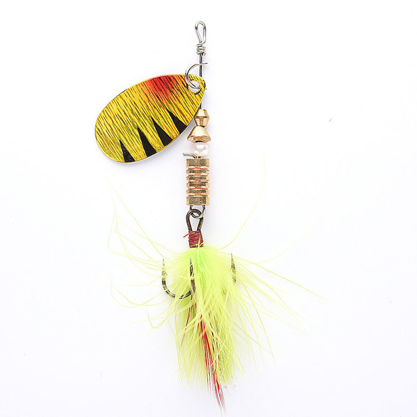 Fishing Lures Wobbers Hand Spinner Shone Sequin Spoon Baits Crankbait For Fly Fishing Tackle With Feather Hooks .