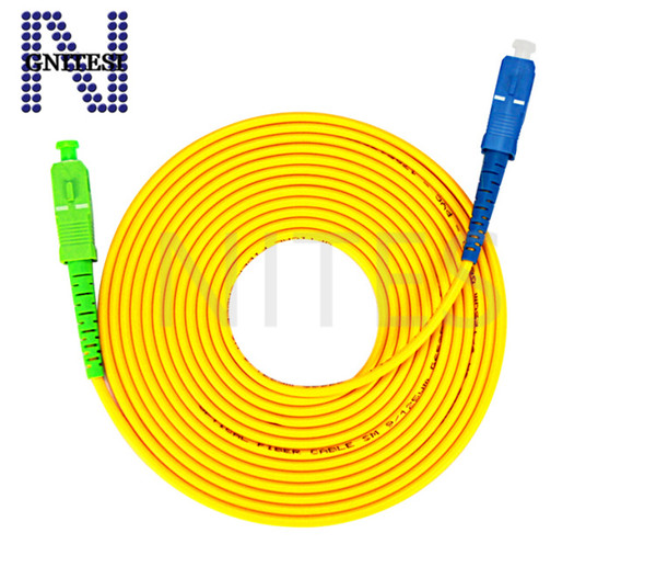 Free shipping 10pcs Original new SC APC-SC UPC FTTH Fiber optice Patch cord Cable single mode 3m