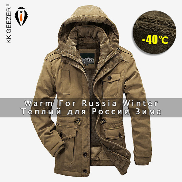Winter Jacket Men Parkas Top Warm Waterproof Big Size 2019 Thicken Male Heavy Wool 2 In 1 Coat High Quality Fleece Cotton-padded SH190822