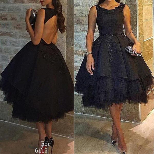 2019 Scoop Ball Gown Evening Dress Sleeveless Hi-Lo Backless Pleated Appliques Beaded Tulle Satin Formal Prom Party Gown