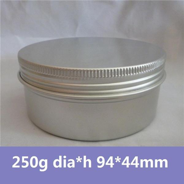 Vente en gros - Livraison gratuite 50pcs / lot Emballage cosmétique en aluminium 250g