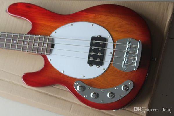 Red canhota Electric Bass Guitar with Branco Pickguard, 21 trastes, Chrome Hardwares2019, oferta personalizada