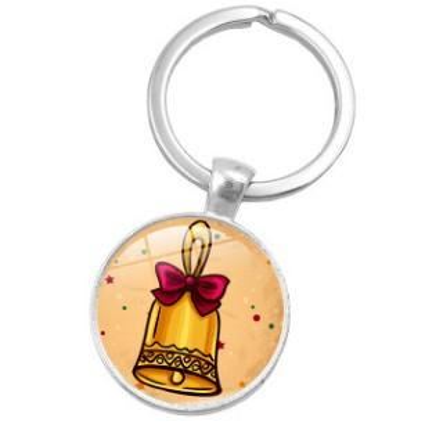 CARTOON MIXED XMAS CHRISTMAS ALLOY GLASS KEYCHAIN KEYRING KEY ACCESSORY KEY CHAIN KEY RING CABOCHON PRECIOUS STONE CAR BAG ACCESSORIES