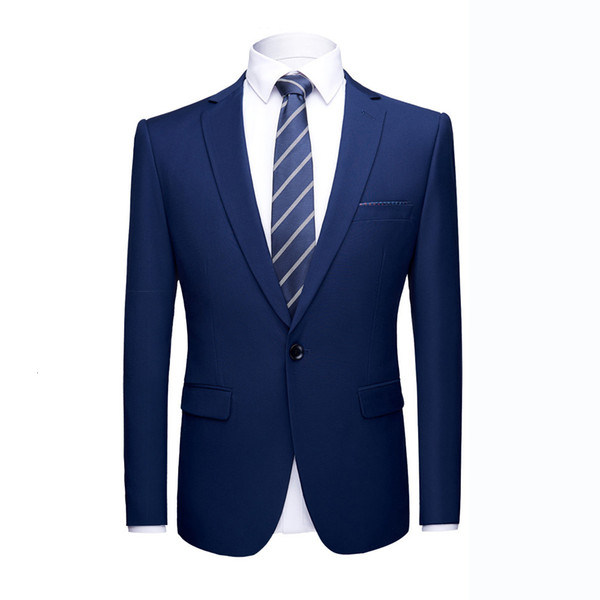 Asian size High quality Prom suits jacket Shinny 16 colors Contrast Collar Dress Dinner Blazer Homme Slim Fit Suit Coat Jacket T191019
