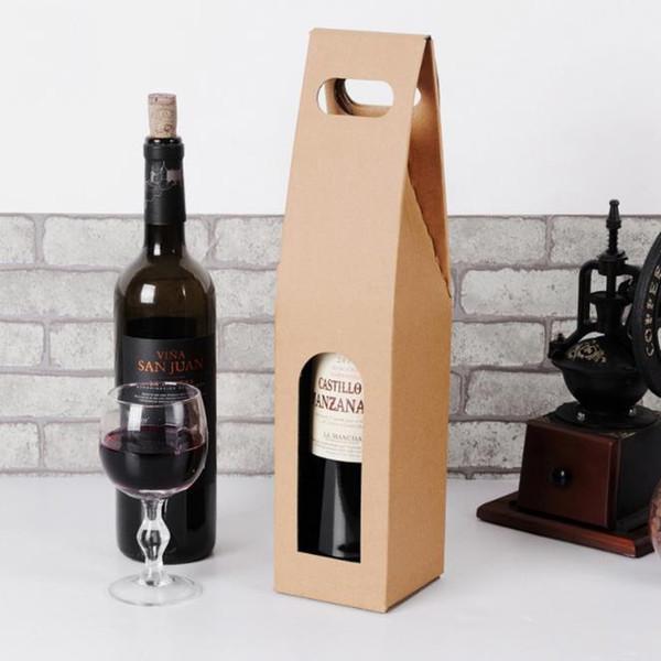 2019 новая творческая упаковка сумки бумажная подарочная коробка со строкой для красного вина масло шампанское бутылка держатель подарка держатель вина упаковка