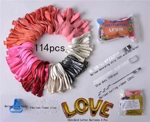 114pcs Hot Pink
