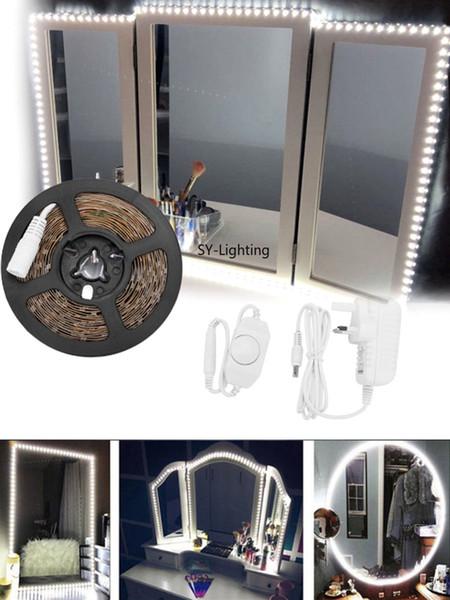 5 Mt SMD 3528 300LED spiegelleuchte bar schminktisch lampe dekorleiste + dimmschalter