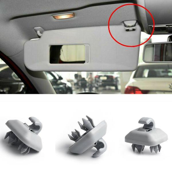 best selling 1Pc Car Interior Sun Visor Hook Clip Bracket For Audi Q3 Q5 Q7 A1 A3 A4 A5 Grey