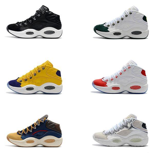 Allen Iverson Pregunta Mid Q1 Zapatillas de baloncesto para hombre Respuesta 1s Zoom Running Zapatillas deportivas deportivas Zapatillas de deporte zapatillas de diseño TAMAÑO 40-45