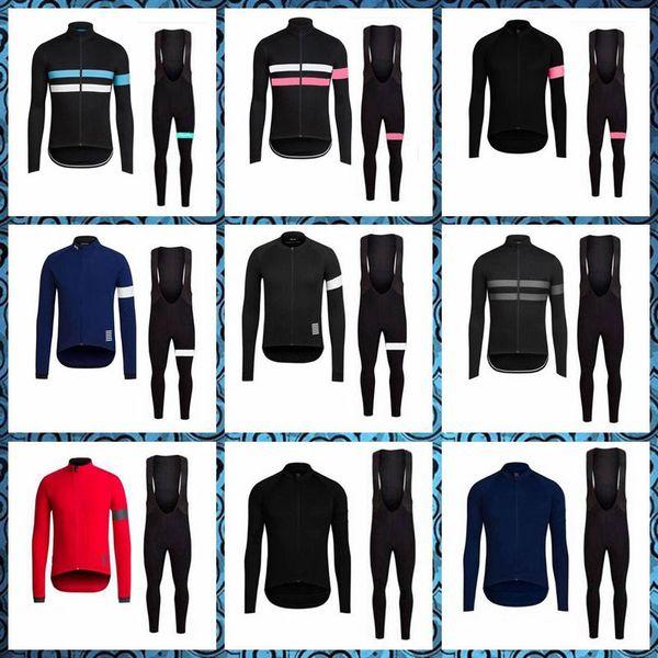 Rapha equipe ciclismo de manga comprida jersey bib pants sets novo mens verão quick-dry clothing maillot mountain bike u42218