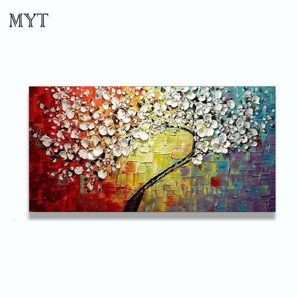 Arte abstracto de la pared pintura pinturas al óleo moderna en la lona decoración del hogar de la sala de estar pintado a mano Fotos ningunos enmarcados HF0010 Y18102209