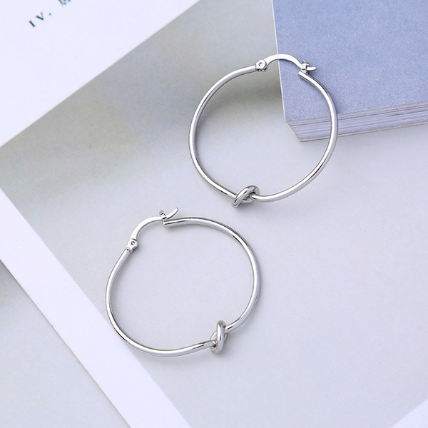 Hot Sale Fashion Jewelry Simple Round Circle Earrings For Women Girl Charm Sexy Earring Accessories Wholesale Custom In Box