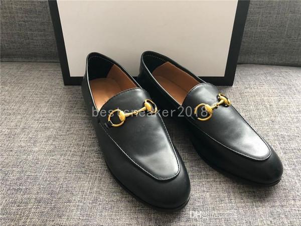 En Kadınlar Gerçek Deri Moda Loafers Lüks Katır Ayakkabı Yüksek Kalite Makosenler Ayakkabı Düz kırmızı Ayakkabı Ofis Elbise Ayakkabı Horsebit