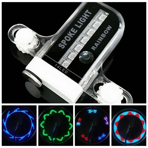 top popular Night Cycling Bike Lights Shock Sensor Wheel Spoke LED Lamp Universal Mountain Bicycle Wheel Light 14 LED Light ZZA419 2021