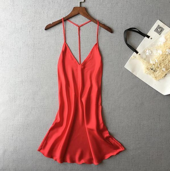 Chemise de nuit rouge