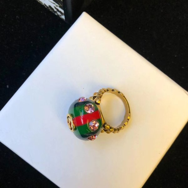 Top Messing Material Paris Design Harz Teil Ring mit rosa Diamanten verzieren freie Größe Ring für Frauen und Freundin Schmuck Geschenk PS7624