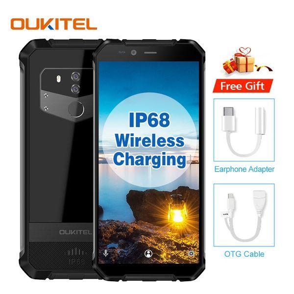 Waterproof OUKITEL WP1 4GB 64GB 4G LTE Octa Core MTK6763 Fingerprint 13MP Camera 5000mAh Wireless Charging Military Grade Rugged Smartphone